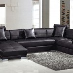 black leather sofa corner suite