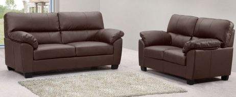 Cheap brown leather sofa